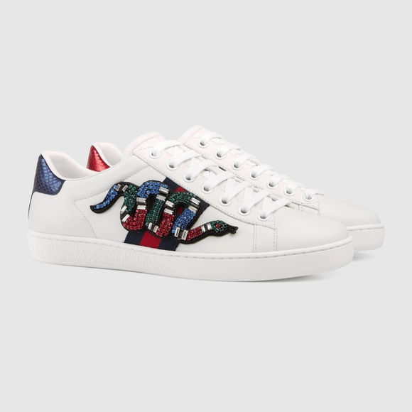 80e09065863 Gucci Ace Embroidered Sneakers Ask Size New! NWT